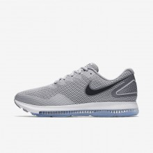 Mens Wolf Grey/Cool Grey/Black Nike Zoom All Out Running Shoes AJ0035-005