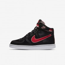 Girls Black/Bleached Coral/White/Speed Red Nike Vandal High Supreme QS Lifestyle Shoes AQ3713-001