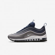 Nike Air Max 97 Lifestyle Shoes For Girls Light Carbon/Barely Rose/Navy/White 917999-003