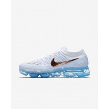 Womens Summit White/Hydrogen Blue/Pure Platinum/Metallic Red Bronze Nike Air VaporMax Running Shoes 849557-104