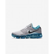 Boys Vast Grey/Dusty Cactus/Atmosphere Grey/Black Nike Air VaporMax Running Shoes 917963-011