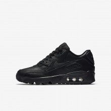 Boys Black Nike Air Max 90 Lifestyle Shoes 833412-001