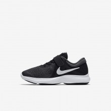 Girls Black/Anthracite/White Nike Revolution 4 Running Shoes 943305-006