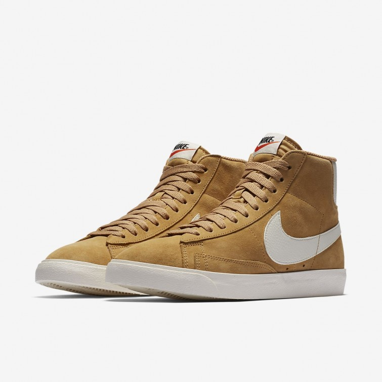 outlet nike blazer mid freizeitschuhe damen gold schwarz. Black Bedroom Furniture Sets. Home Design Ideas