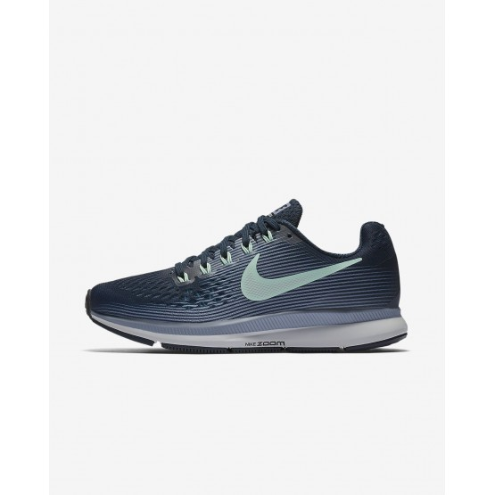 Womens Armory Navy/Glacier Grey/Black/Mint Foam Nike Air Zoom Running Shoes 880560-405