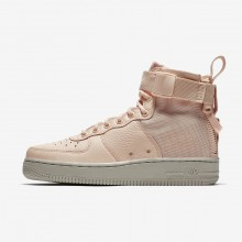 Womens Orange Quartz/Pale Grey Nike SF Air Force 1 Lifestyle Shoes AA3966-800