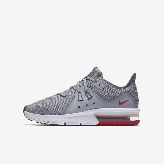 Boys Wolf Grey/Anthracite/Pure Platinum Nike Air Max Sequent Running Shoes 922884-003
