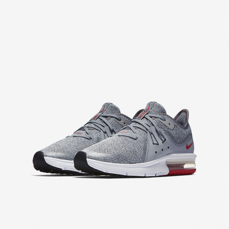 low priced f0753 dce08 ... Chaussure Running Nike Air Max Sequent Garcon Grise Platine 922884-003
