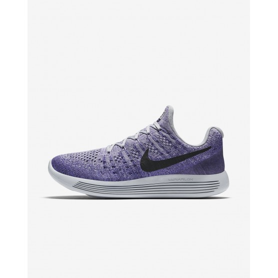 Womens Wolf Grey/Purple Earth/Dark Raisin/Black Nike LunarEpic Low Running Shoes 863780-007