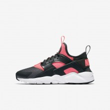 Boys Anthracite/White/Hot Punch Nike Air Huarache Lifestyle Shoes 847568-007
