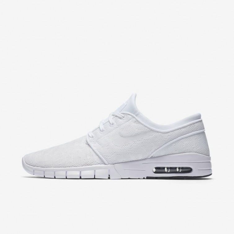 4d733ee458 Cheap Wholesale Mens White/Obsidian Nike SB Stefan Janoski Max Shoes ...