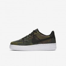 Boys Medium Olive/Baroque Brown/Sequoia/Black Nike Air Force 1 Lifestyle Shoes 820438-204