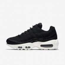 Womens Black/Dark Grey/Sail Nike Air Max 95 Lifestyle Shoes AA1103-001