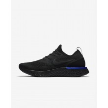 Nike Epic React Flyknit Running Shoes For Women Black/Racer Blue AQ0070-004