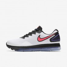 Womens White/Black/Solar Red Nike Zoom All Out Running Shoes AJ0036-101