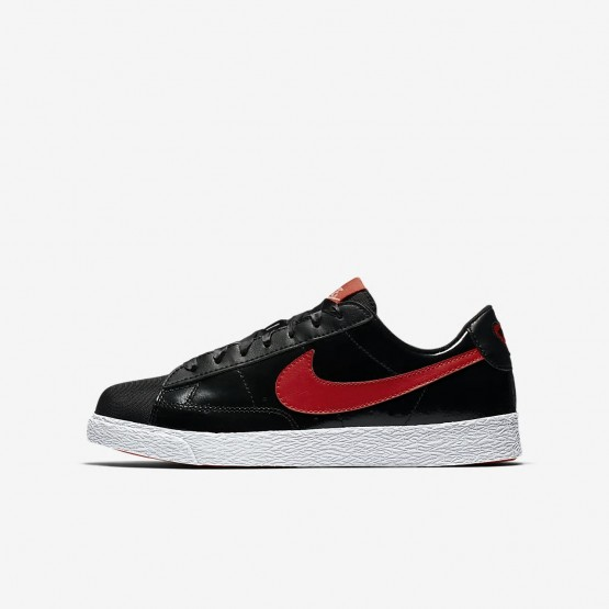 Girls Black/Bleached Coral/Speed Red Nike Blazer Lifestyle Shoes AO1033-001