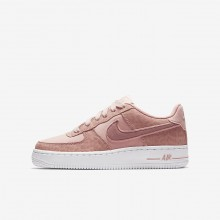 Nike Air Force 1 Lifestyle Shoes For Girls Coral Stardust/White/Rust Pink 849345-600