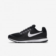 Boys Black/Dark Grey/Anthracite/White Nike Zoom Pegasus Running Shoes 881953-002