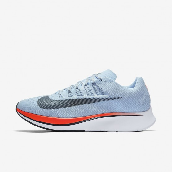 Mens Ice Blue/Bright Crimson/University Red/Blue Fox Nike Zoom Fly Running Shoes 880848-401