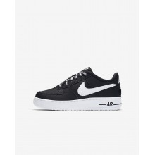 Boys Black/White Nike Air Force 1 Lifestyle Shoes 820438-015
