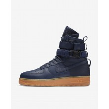 Mens Midnight Navy/Black/Gum Medium Brown Nike SF Air Force 1 Lifestyle Shoes 864024-400