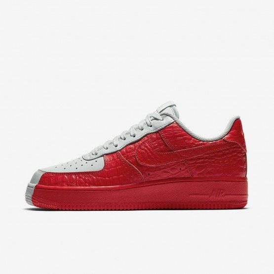 Mens Barely Grey/Habanero Red Nike Air Force 1 Lifestyle Shoes 905345-005