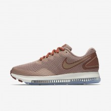 Womens Dusty Peach/Particle Pink/Metallic Red Bronze Nike Zoom All Out Running Shoes AJ0036-200