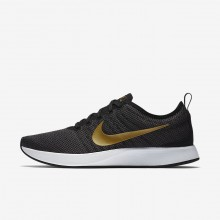 Womens Black/Dark Grey/White/Metallic Gold Nike Dualtone Racer Lifestyle Shoes 940418-005