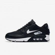 Womens Black/White Nike Air Max 90 Lifestyle Shoes 325213-047