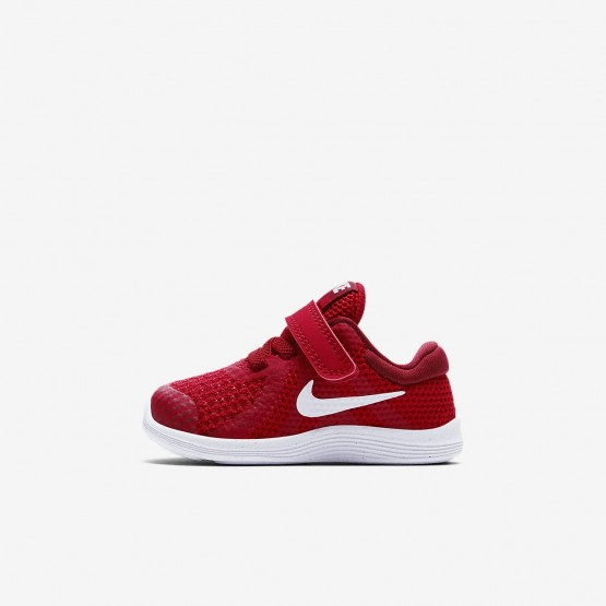 Girls Gym Red/Team Red/Black/White Nike Revolution 4 Running Shoes 943304-601
