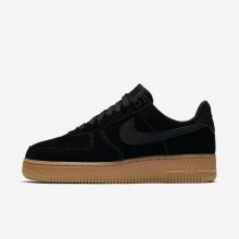 Womens Black/Gum Medium Brown/Ivory Nike Air Force 1 Lifestyle Shoes AA0287-002