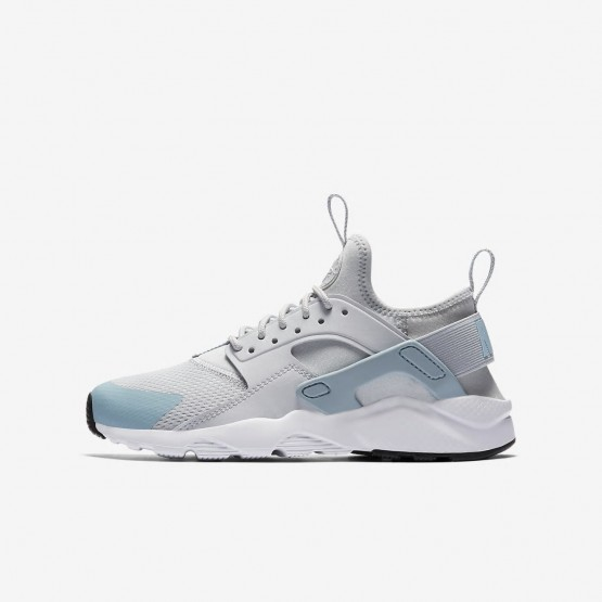 Boys Pure Platinum/White/Ocean Bliss Nike Air Huarache Lifestyle Shoes 847568-011