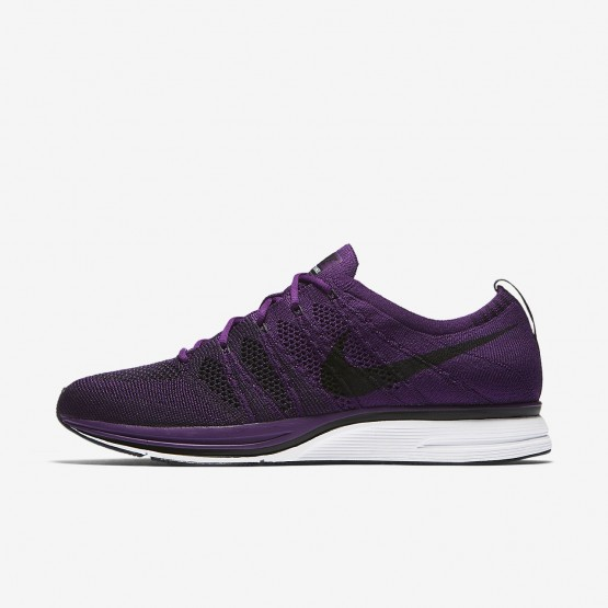 Mens Night Purple/White/Black Nike Flyknit Trainer Lifestyle Shoes AH8396-500