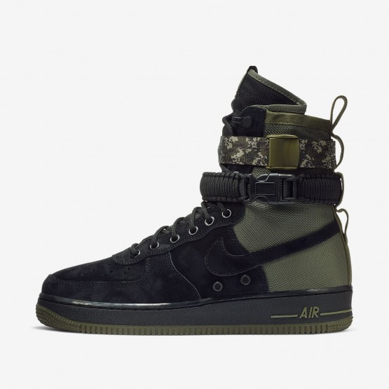 Mens Black/Medium Olive/Neutral Olive Nike SF Air Force 1 Lifestyle Shoes 864024-004