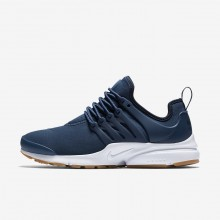 Womens Navy/Obsidian/Gum Light Brown Nike Air Presto Lifestyle Shoes 878068-403