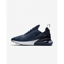 Mens Midnight Navy/White/Black Nike Air Max 270 Lifestyle Shoes AH8050-400