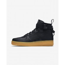 Mens Black/Gum Light Brown Nike SF Air Force 1 Lifestyle Shoes 917753-003
