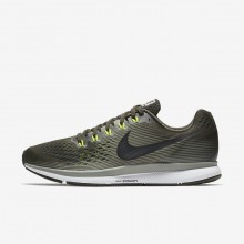 Mens Sequoia/Dark Stucco/Volt/Black Nike Air Zoom Running Shoes 880555-302