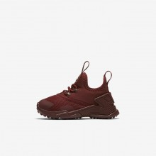 Chaussure Casual Nike Huarache Fille Rouge/Blanche AA3504-600