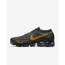 Mens Black/Dark Grey/Mineral Gold Nike Air VaporMax Running Shoes 849558-021