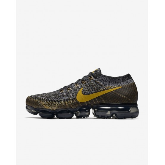 Nike Air VaporMax Running Shoes For Men Black/Dark Grey/Mineral Gold 849558-021