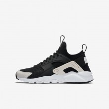 Boys Black/White/Barely Rose Nike Air Huarache Lifestyle Shoes 847568-010
