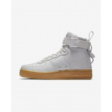 Womens Vast Grey/Gum Light Brown Nike SF Air Force 1 Lifestyle Shoes AA3966-005