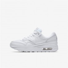 Nike Air Max 1 Lifestyle Shoes For Boys White/Metallic Silver 807602-100