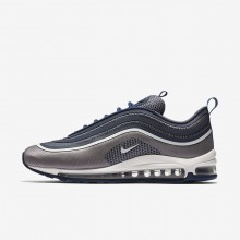 Mens Navy/Light Carbon/White Nike Air Max 97 Lifestyle Shoes 918356-402