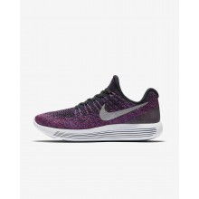 Womens Black/Hyper Punch/Persian Violet/Metallic Silver Nike LunarEpic Low Running Shoes 863780-015
