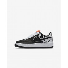 Boys Black/White Nike Air Force 1 Lifestyle Shoes 820438-014