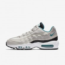 Mens Light Bone/Black/White/Sport Turquoise Nike Air Max 95 Lifestyle Shoes 749766-027