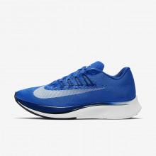 Womens Hyper Royal/Deep Royal Blue/Black/White Nike Zoom Fly Running Shoes 897821-411