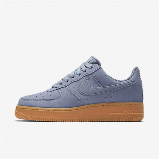 Womens Glacier Grey/Gum Medium Brown/Ivory Nike Air Force 1 Lifestyle Shoes AA0287-001